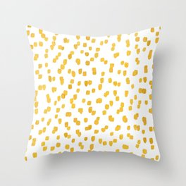 Gold Sprinkles Throw Pillow