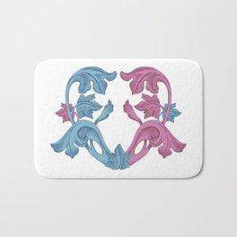 Heart pink & Azur Bath Mat