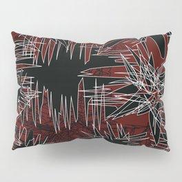 Red Chaos Pillow Sham