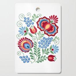 Moravian Folk Design Red Cutting Board
