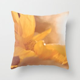 Sun Flare Sunflower Throw Pillow