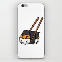 Rottweiler Sushi iPhone Skin