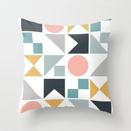 Modern Geometric 09 Throw Pillow