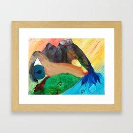 Gaia's Anatomy Framed Art Print