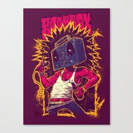 Boom Box Punk Canvas Print
