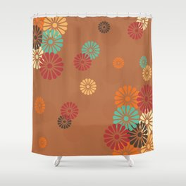 Japanese Culture -  Vintage flower Pattern Shower Curtain