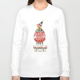 Cat In A Hat On A Suitcase Stack Long Sleeve T-shirt
