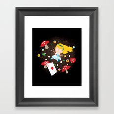 Alice Falling Down the Rabbit Hole Framed Art Print