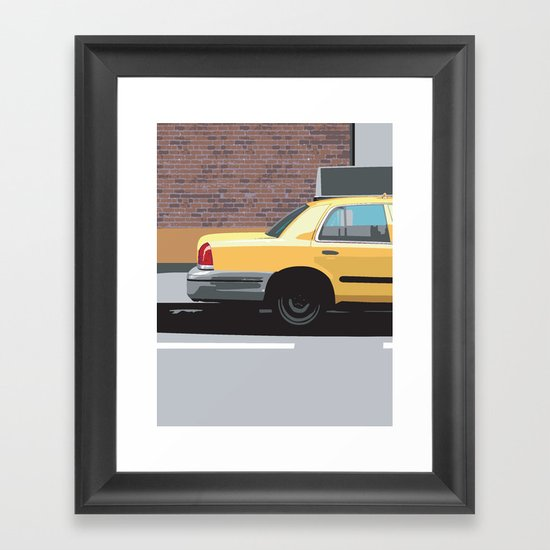 Big Yellow Taxi Framed Art Print