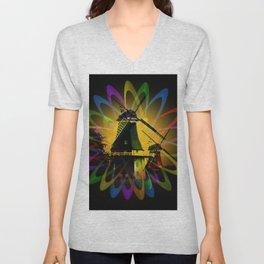 Windmills - Greetsiel Unisex V-Neck