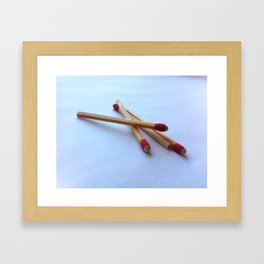 Just a spark Framed Art Print