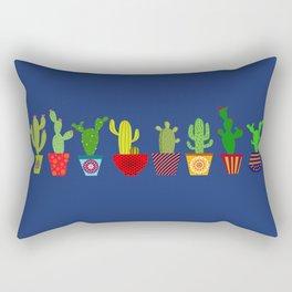 Cactus in blue Rectangular Pillow