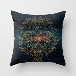 Cosmic blast Throw Pillow