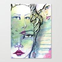 jane davenport Canvas Prints featuring Fridalicious by Jane Davenport by Jane Davenport