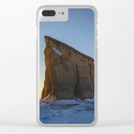 Winter, Lake Sakakawea, North Dakota Clear iPhone Case