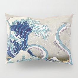 Haku and the Great Wave Pillow Sham