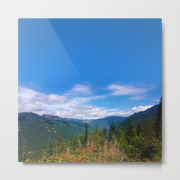 Northern Cascade Sky Metal Print