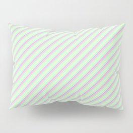 Pastel Tones Inclined Stripes Pillow Sham