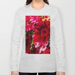 Red Gerbera Daisy Abstract Long Sleeve T-shirt