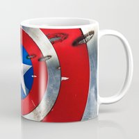 targaryen Mugs featuring SHIELD by Smart Friend