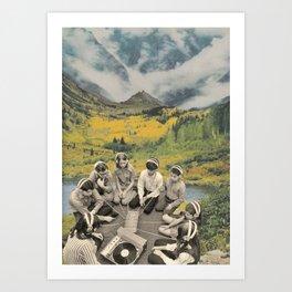 Mountain sound Art Print