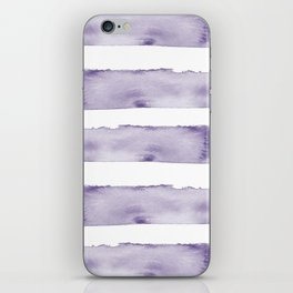 Watercolour Stripes in Violet iPhone Skin