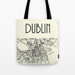 DUBLIN Ireland City Street Map Tote Bag