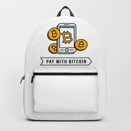 Pay With Bitcoin (Mobile Payments) Icon Backpack