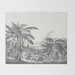 Palms and Mountain Throw Blanket