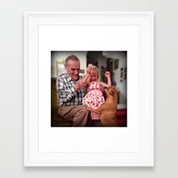 mike wrobel Framed Art Prints featuring Mike by Popko Studio