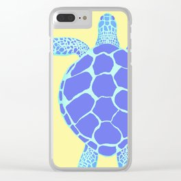 Beach Yellow Turtle Clear iPhone Case