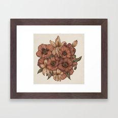 Poppies and Lilies Framed Art Print