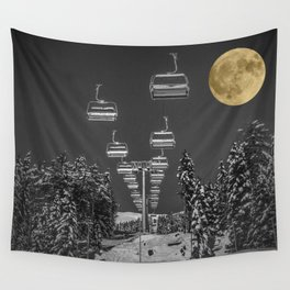Chair Lift to the Moon Wall Tapestry