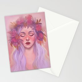 Pinks and Purples Stationery Cards