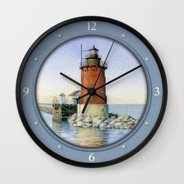 Delaware Breakwater East Light Wall Clock