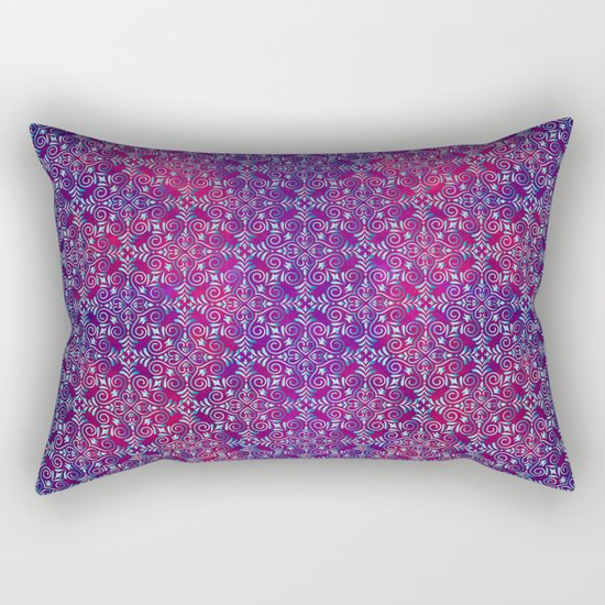Turkish blue arabesques Rectangular Pillow
