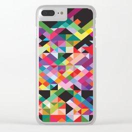 Geometric Kaos Clear iPhone Case