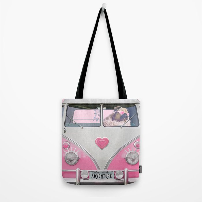 Pug Girly Adventure Tote Bag