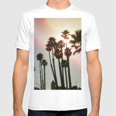Palms Remix MEDIUM Mens Fitted Tee White