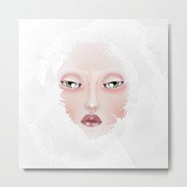 Doll portrait Winter Metal Print