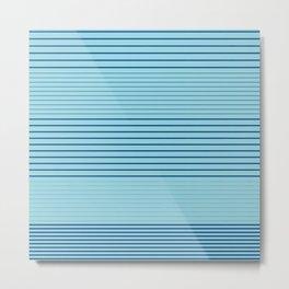Strong Stripes (lapis-island blue) Metal Print