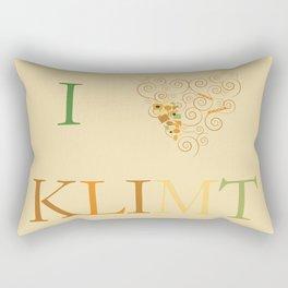 I heart Klimt Rectangular Pillow