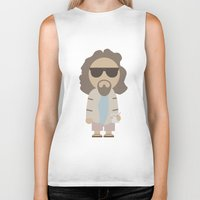big lebowski Biker Tanks featuring THE DUDE - Big Lebowski by Moose Art