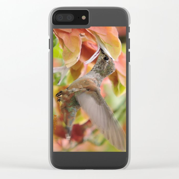 Little Ms. Hummingbird in for More Licks Clear iPhone Case