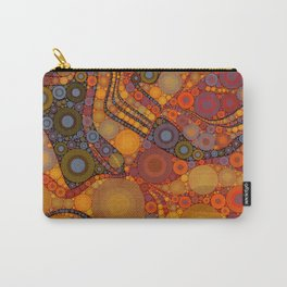 NOMAD an intricate design of orange and gold dots Carry-All Pouch