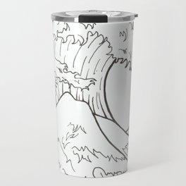 The wave of Kanagawa Travel Mug