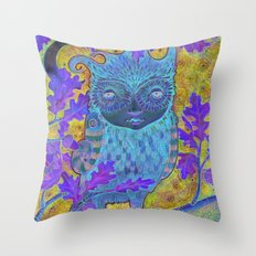Oak & Owl Throw Pillow