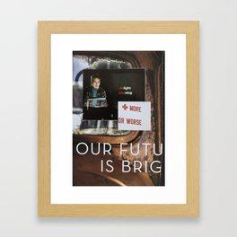 Delight Warning Framed Art Print