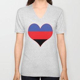Polyamorous Heart Unisex V-Neck