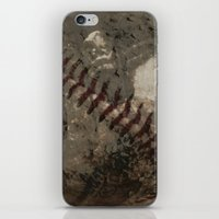 league iPhone & iPod Skins featuring Big League Dreams by Eric Rasmussen